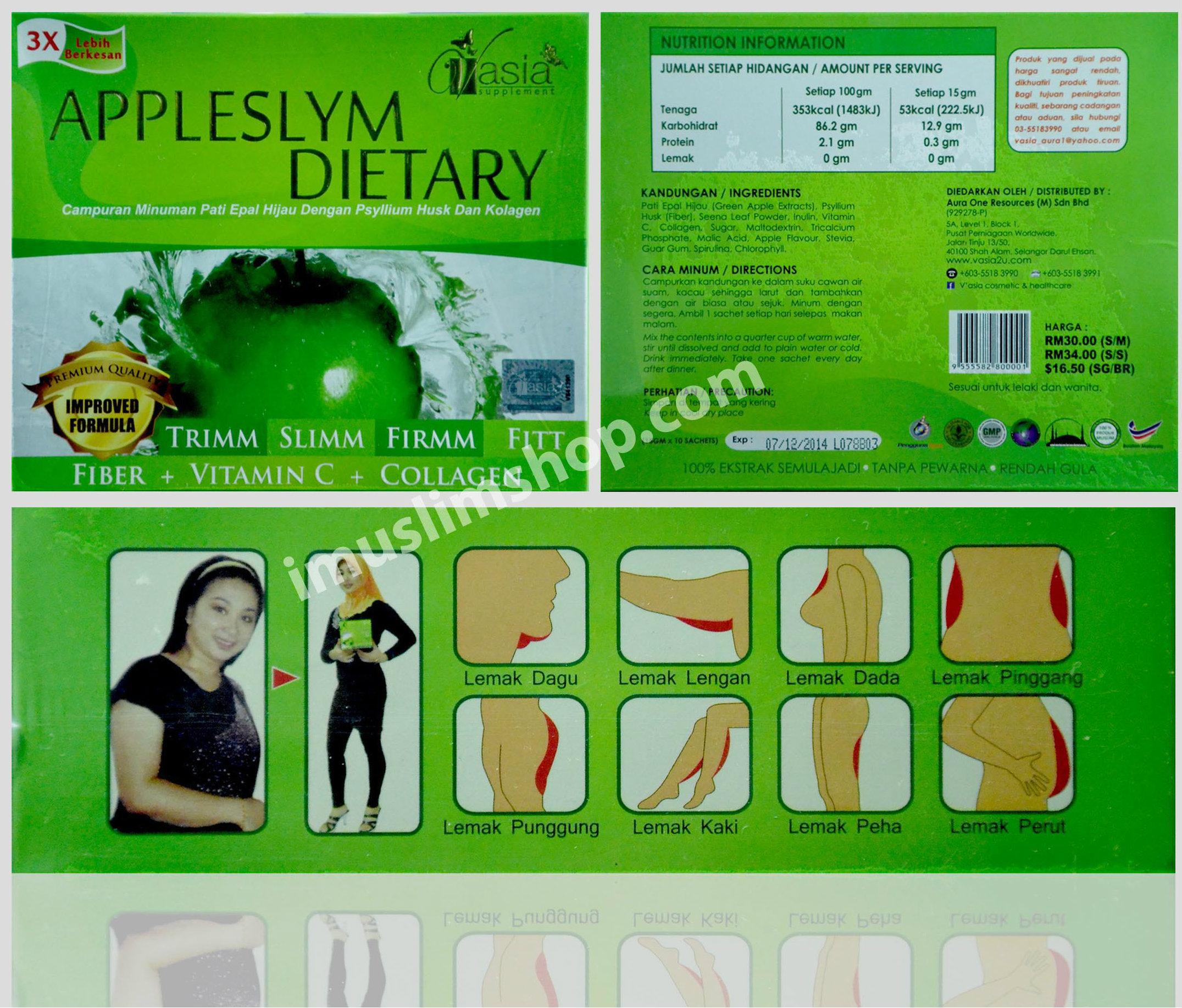 Appleslym Dietary V'ASIA | imuslim