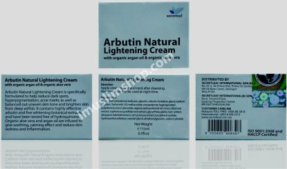 arbutin natural lightening cream