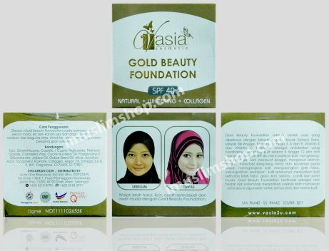 gold beauty foundation